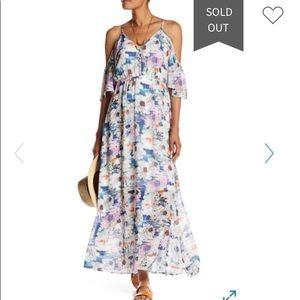 DR 2 Cold Shoulder Floral Maxi Dress